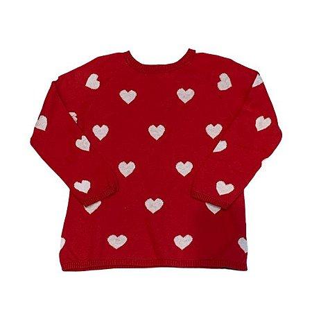 H&M casaco linha vermelho corações 12-18 meses