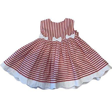 UPIÁ vestido listras vermelhas M 6 meses