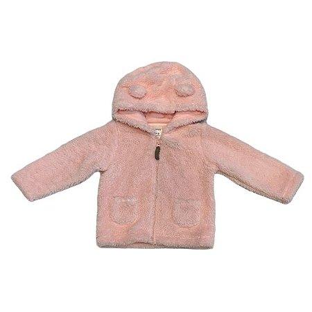 CARTERS casaco felpudo rosa c capuz de orelhinha 18 meses