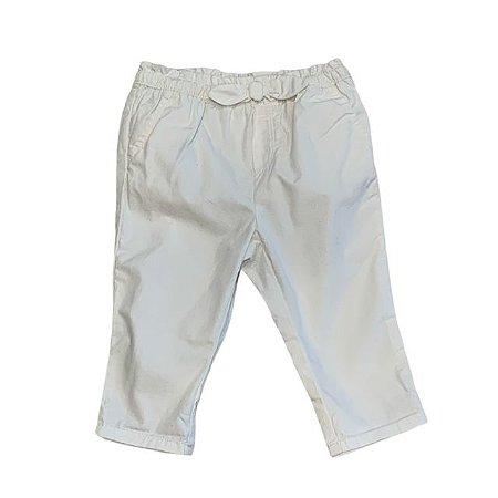 BABY GAP calça algodão offwhite 6-12 meses