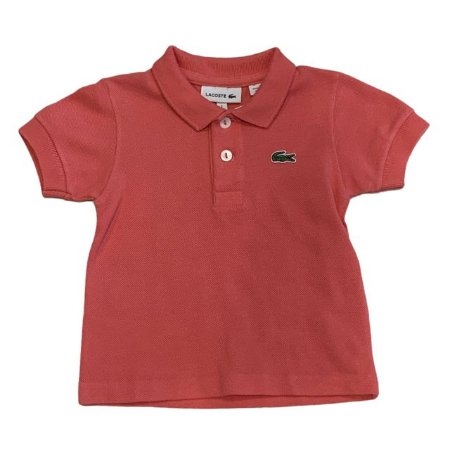LACOSTE camisa polo rosa salmão 1 ano