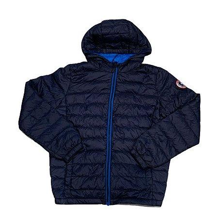 ROCCA ROLLA casaco nylon marinho pluma ganso 10-12 anos