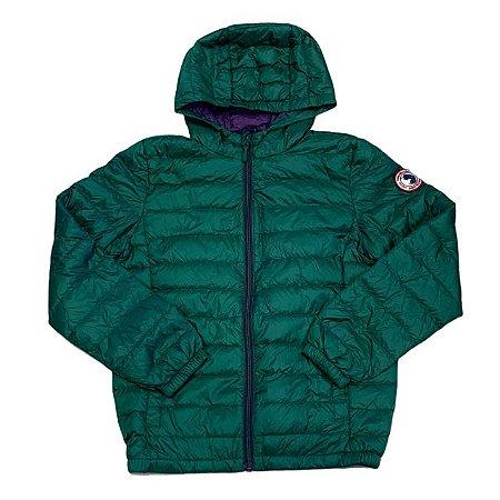 ROCCA ROLLA casaco nylon verde pluma ganso 10-12 anos
