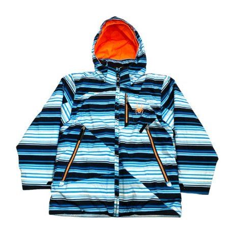 SPYDER casaco nylon acolchoado listras azuis 8 anos