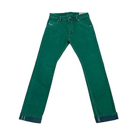 DIESEL calça sarja verde 10 anos