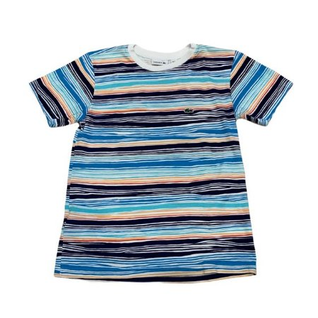 LACOSTE camiseta listras coloridas 12 anos