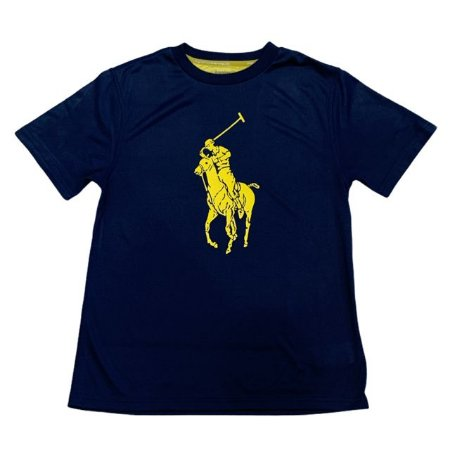 RALPH LAUREN camiseta marinho Jersey 10-12 anos