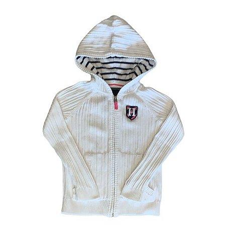 TOMMY HILFIGER casaco c capuz de linha branco 6-7 anos