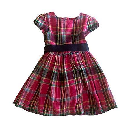 RALPH LAUREN vestido com calcinha de flanela xadrez 24 meses