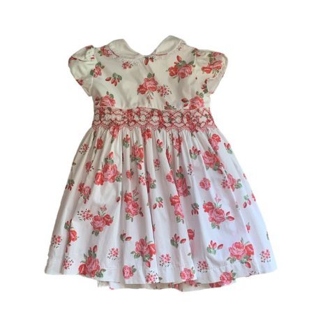 UPIÁ vestido casinha de abelha rosas vermelhas 1 ano