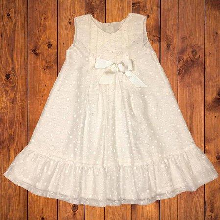 TONY BAMBINO vestido branco mini bolas 10 anos