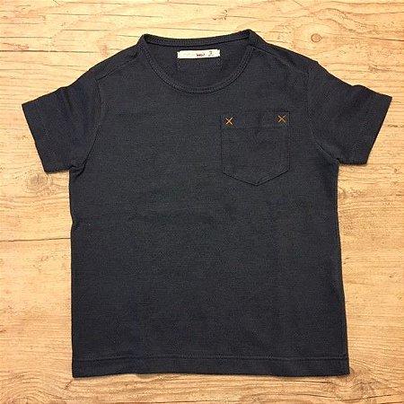 RESERVA MINI camiseta lisa preta c bolso 2 anos