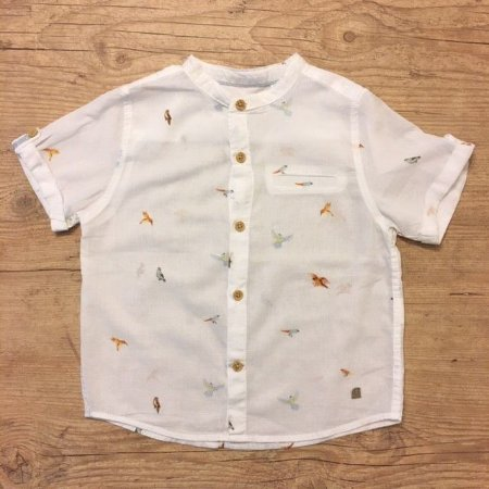 ZARA camisa social branca estp aves 18-24 meses