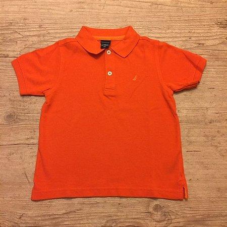 NAUTICA camisa polo laranja 3 anos