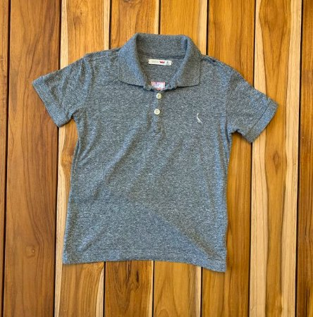 RESERVA MINI camisa polo cinza mescla 4 anos