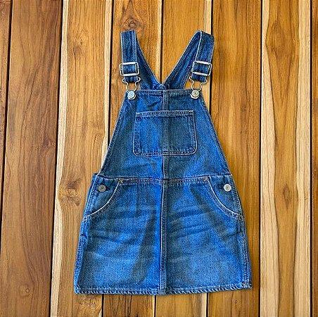 BABY GAP jardineira saia jeans 3 anos