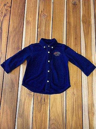RALPH LAUREN camisa social malha marinho 6 meses