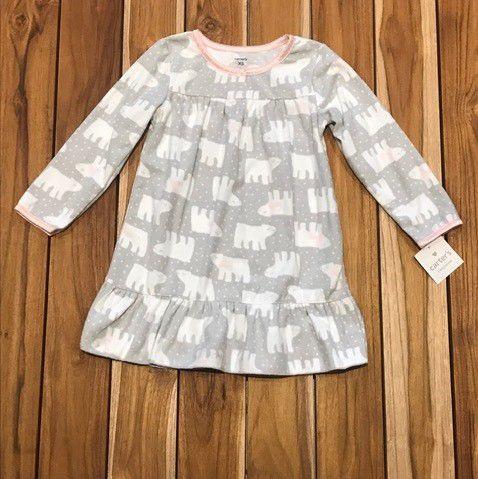 CARTERS camisola soft cinza elefantes 2 - 3 anos