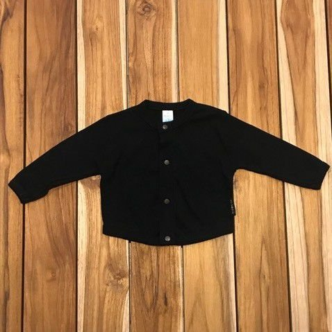BEBE BASICO casaco de malha preto 6- 9 meses