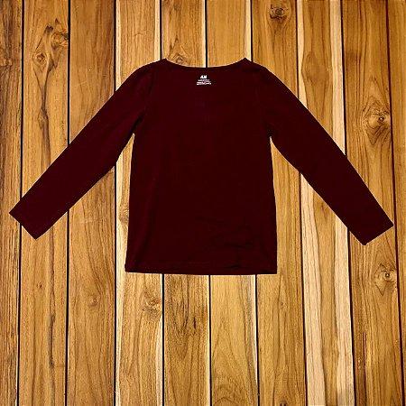 H&M Camiseta roxa mg longa 6-8 anos