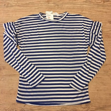 H&M camiseta listras azul 8-10 anos