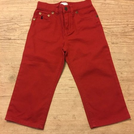 RALPH LAUREN calça vermelha 24 meses