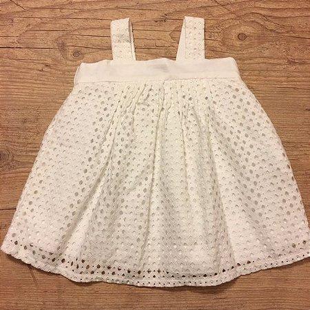 TYROL vestido branco 3- 6 meses