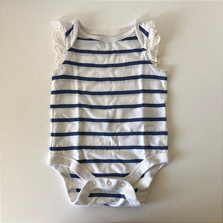 BABY GAP body listras 0-3 meses