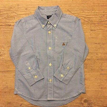 BABY GAP camisa social Oxford azul 3 anos