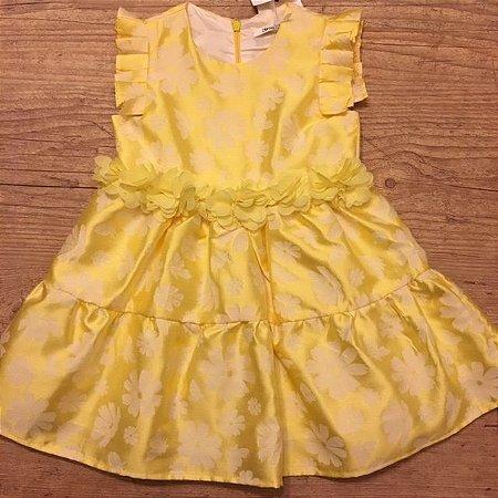 GAIALUNA vestido amarelo c etiqueta 24 meses