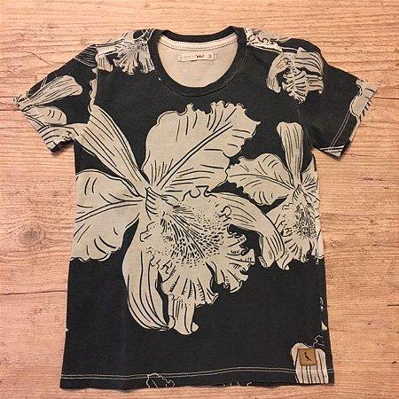 RESERVA MINI camiseta estampa folhas 2 anos