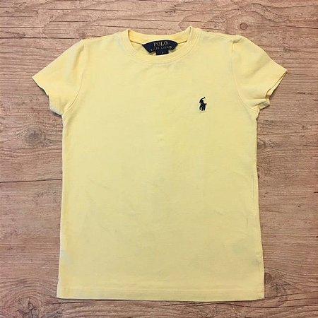 RALPH LAUREN camiseta lisa amarela 5 anos