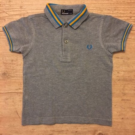 FRED PERRY camisa polo cinza 3-4 anos