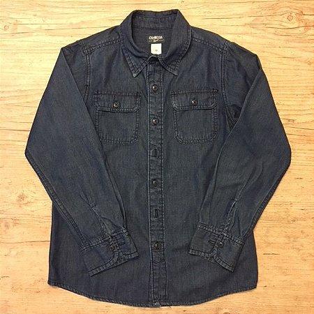 OSHKOSH camisa social azul escuro 10 anos
