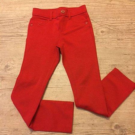 GYMBOREE calça de malha com elastano tipo legging vermelha 5 anos