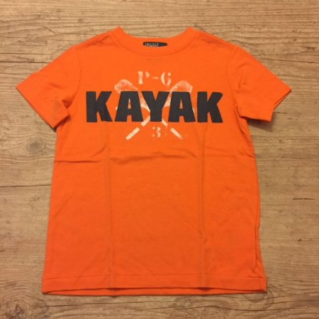 RALPH LAUREN camiseta laranja KAYAK 4 anos