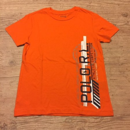 RALPH LAUREN camiseta laranja estampa vert 7 anos
