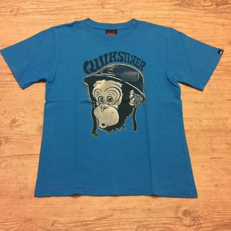 QUIKSILVER camiseta azul clara estampa macaco 6 anos