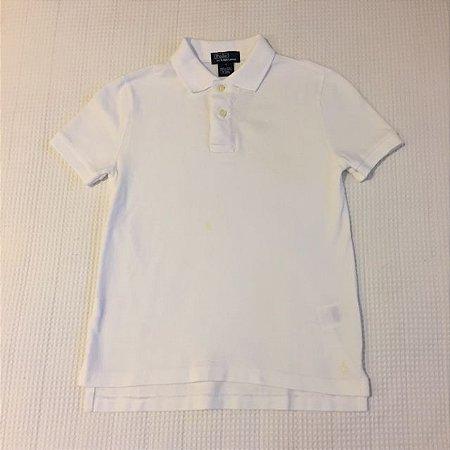 RALPH LAUREN camisa polo branca 7 anos