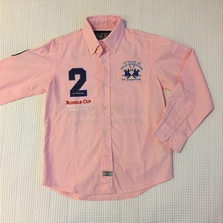 LA MARTINA JUNIOR camisa social rosa  6 anos