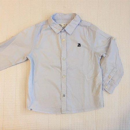 ZARA camisa social azul clara 2/3 anos