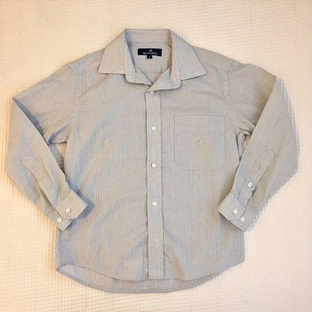 BROOKSFIELD camisa social cinza listras brancas 4 anos