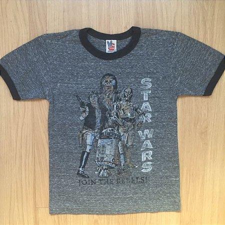 JUNK FOOD camiseta cinza mescla Star Wars 5 anos