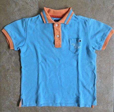 TOMMY HILFIGER camisa polo azul clara 4 anos