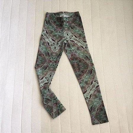 TRACK & FIELD legging estamp verde 5-6 anos
