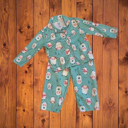 JUST FOR YOU pijama ovelha verde 2 anos