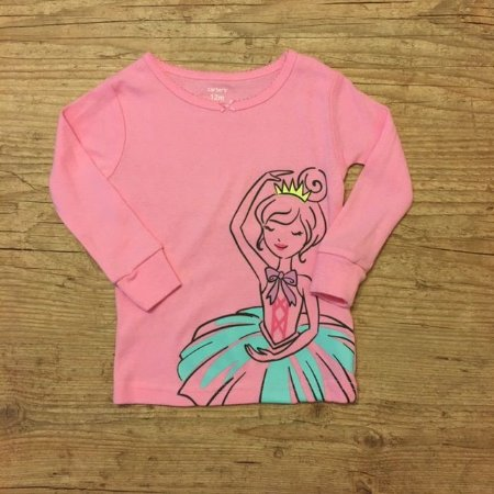 CARTERS camiseta rosa bailarina 12 meses