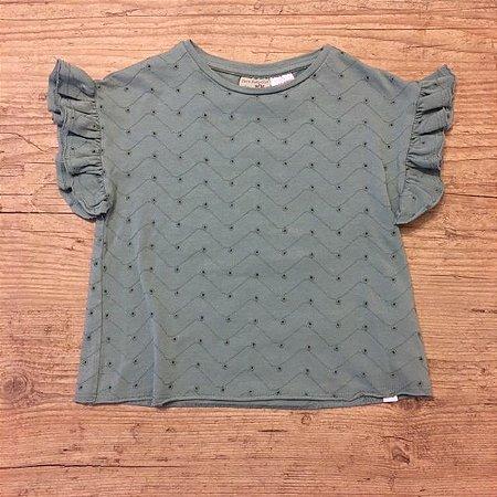 ZARA camiseta verde 9-12 meses