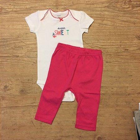 CARTERS conjunto calça + body super sweet 9 meses