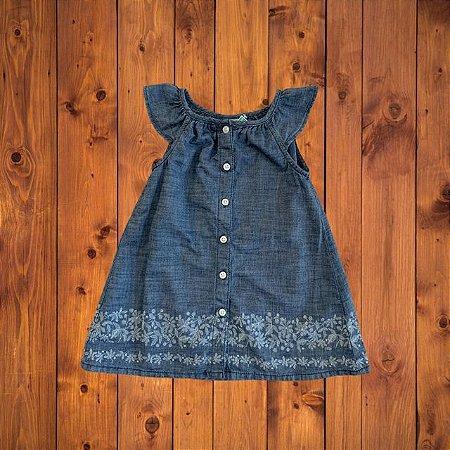 BABY GAP vestido jeans estp barra 12-18 meses